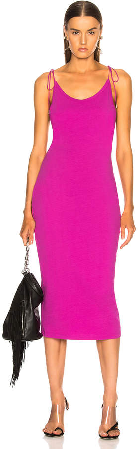 Alexander Wang High Twist Midi Dress in Fuchsia | FWRD