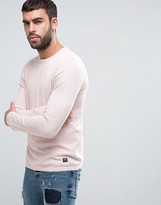 Pull&Bear Lightweight Knitted Sweater In Light Pink