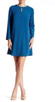 Bobeau Keyhole Bell Sleeve Shift Dress