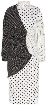 Mixed Polka Dot Print Dress