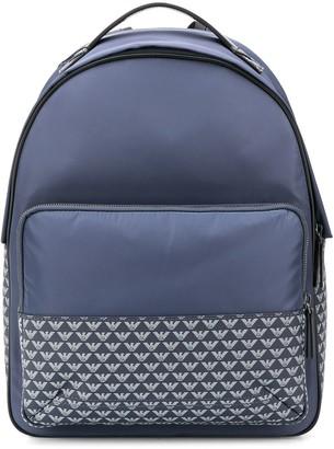 Emporio Armani Monogram Print Backpack