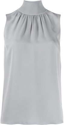 Theory Mock-Neck Sleeveless Top