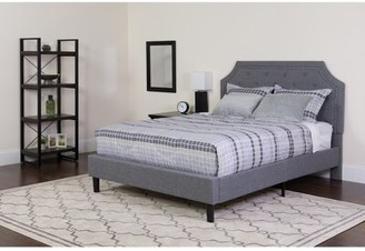 Charlton Home Porath Tufted Upholstered Platform Bed with Mattress Color: Dark Gray, Size: Twin