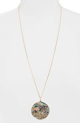 Halogen Iridescent Resin Reversible Pendant Slider Necklace
