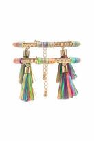 Forever 21 FOREVER 21+ Tassel Snake Chain Bracelet Set