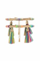 Forever 21 Tassel Snake Chain Bracelet Set