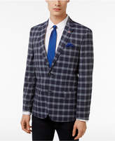 Ben Sherman Men's Slim-Fit Blue and Gray Windowpane Sport Coat