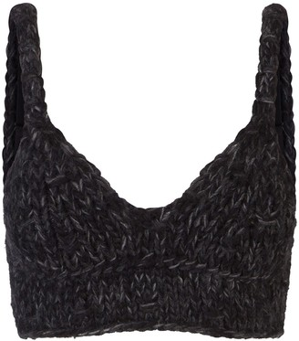 Dolce & Gabbana Knitted-Construction Crop Top