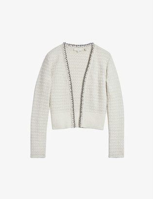 Ted Baker Eloda chain-detail boucle cardigan