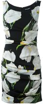 Dolce & Gabbana tulip print ruched dress