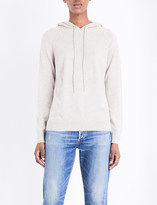 The White Company Pointelle-detail wool and cashmere-blend hoody