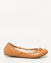 Le Château Leather Round Toe Ballerina