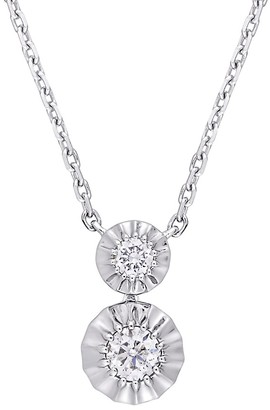 Saks Fifth Avenue 14K White Gold Diamond Pendant Necklace