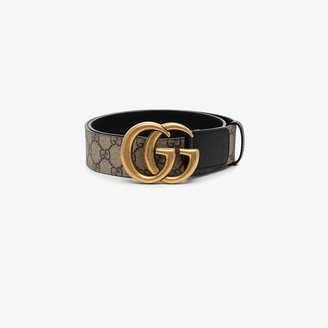 Gucci Brown GG Supreme Marmont leather belt