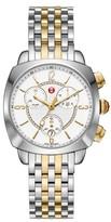 Michele Women's Ascalon Diamond Dial Chronograph Watch Head & Bracelet, 38Mm