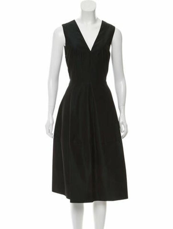 Narciso Rodriguez V-Neck Midi Length Dress w/ Tags Green