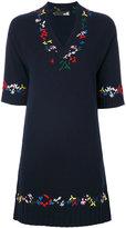 Love Moschino embroidered flared dress - women - Polyamide/Viscose/Cashmere/Wool - 38