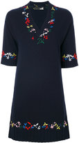 Love Moschino embroidered flared dress - women - Polyamide/Viscose/Cashmere/Wool - 40