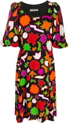 Yves Saint Laurent Pre Owned 1980s Geometric Print Below-The-Knee Dress
