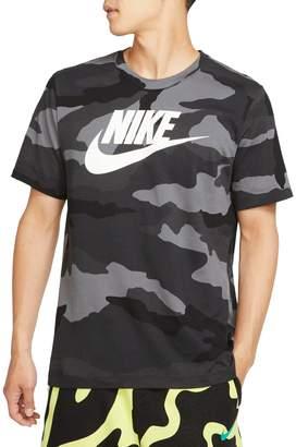 Nike Camouflage-Print Logo Cotton Tee
