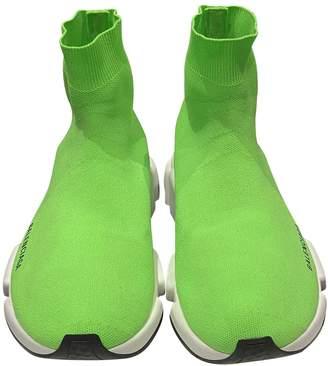 Balenciaga Speed Green Cloth Trainers