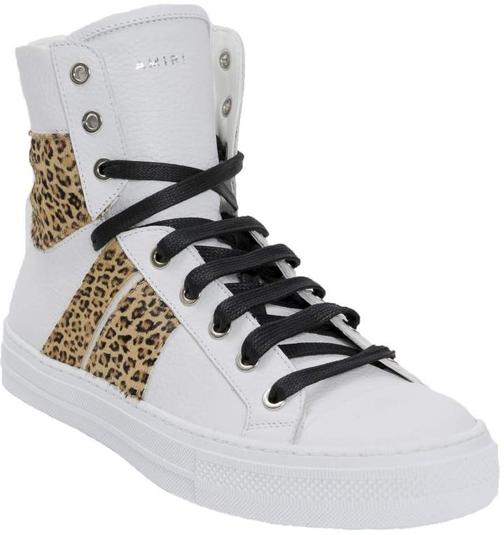 Amiri Leopard 'sunset' high-sneakers