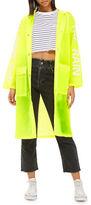 Topshop Slogan Raincoat Mac