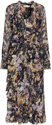 Zimmermann Midnight Wisteria floral print midi dress
