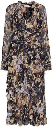 Zimmermann Midnight Wisteria floral print midi dress