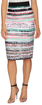 Milly Couture Illusion Stripe Pencil Skirt