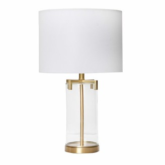 """Creative Co-op 26.5"""" Brushed Gold and Glass Table Lamp"""