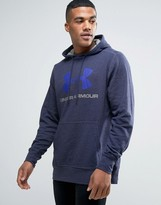 Under Armour Logo Hoodie In Navy 1280762-410