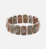 Avenue Tri-Color Floral Stretch Bracelet