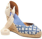 Soludos Denim Embroidered Espadrilles