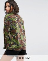 Milk It Vintage Camo Jacket With Back Chains
