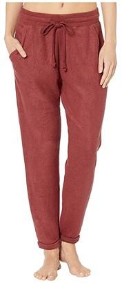 Billabong So Cozy Fleece Pant (Coco Berry) Women's Casual Pants