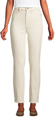Lands' End Women's High Rise Straight-Leg Ankle Jeans