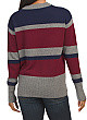 Cashmere Striped Mock Neck Pullover Sweater