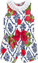 MonnaLisa Printed playsuit with a pleated collar