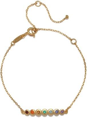 Satya Jewelry Multi Gemstone Gold Chakra Bracelet One Size
