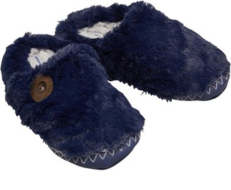 Bedroom Athletics Womens Pandora Faux Fur Mule Slippers Peacoat Navy/Trace Grey