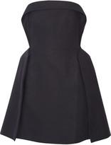 DELPOZO Strapless cotton-blend mini dress