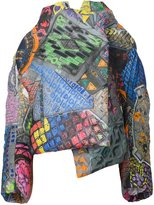 Vivienne Westwood abstract print oversized coat - women - Cotton/Viscose - 38