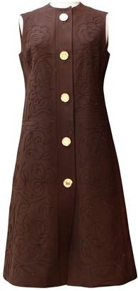 Ted Lapidus Brown Cotton Dress for Women Vintage