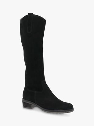 Gabor Shields Nubuck Riding Boots, Black