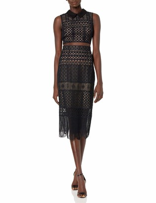 BCBGMAXAZRIA Azria Women's Flo Two-Piece Lace Dress