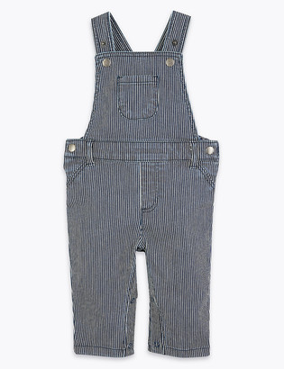 Marks and Spencer Cotton Striped Dungaree (0-3 Yrs)