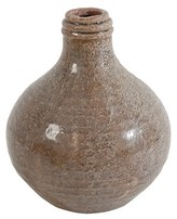 A&B Home Natural Finish Earthenware Bottle Vase - 7.3""