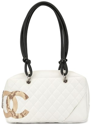 Chanel Pre-Owned Cambon Line diamond quilted tote