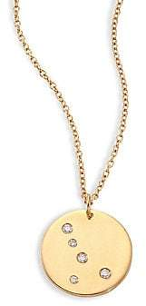 Bare Women's Constellations Cancer Diamond & 18K Yellow Gold Pendant Necklace